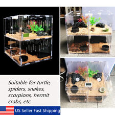 Reptile Acrylic Turtle Pet Spider Lizard Insect Breeding Tank Kit Clear House