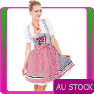 Ladies Oktoberfest Costume Beer Maid Wench German Heidi Dirdnl Fancy Dress