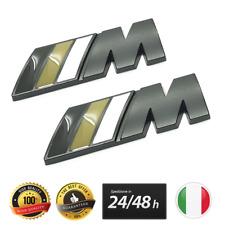 2X LOGO BMW M SPORT NERO OPACO ADESIVO LATERALE XDRIVE M3 SERIE 1 3 5 X1 X3 X5