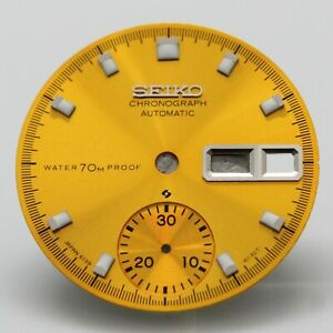 Yellow Proof Dial Vintage SEIKO Chronograph 6139-6000 6139-6001 6139-6002 Pogue