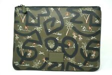 Coach Keith Haring Surplus Green Hula Dance Print Large Pouch F66583