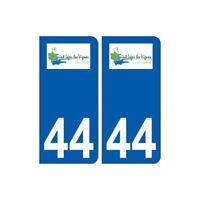 44  Saint-Léger-les-Vignes logo ville autocollant plaque stickers