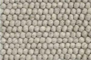 Hay Peas Rug 200x300 cm, Soft Grey 100% wool