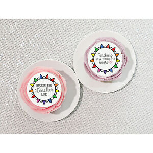 Edible Cake Toppers - Thank You Teacher!  - 6 Sizes and 4 Designs - 001