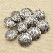 10pcs Flower Metal Silver Shank Sewing Buttons  DIY Sewing  Jacket Coat Jean