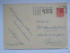POMPEI Piazza Santuario Napoli FIAT 500 annullo vecchia cartolina