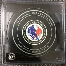 2017 Hockey Hall Of Fame Game Official Puck Toronto Maple Leafs Boston Bruins