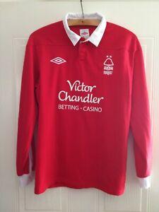 Nottingham Forest Football Shirt Home 2011 2012 Jersey Original Umbro Red Mens
