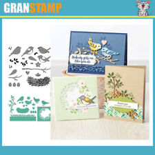 BIRDS Metal Cutting Dies and Stamps Embossing (Price include STAMP and DIE)