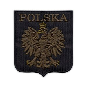 Polish coat of arms (olive eagle) Embroidered PATCH/BADGE