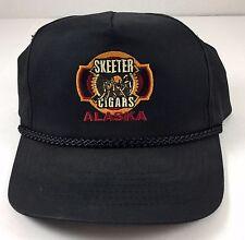 Vintage Snapback Hat Skeeter Cigars Alaska Black Mosquito