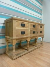 New Chunky Reclaimed Elm Wood 6 Drawer Sideboard Hall Cabinet *Furniture Store*