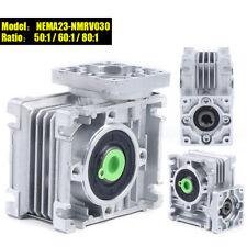 Worm Gearbox Worm Gear Reducer Nema23 Speed Ratio 801 For Stepper Motor New