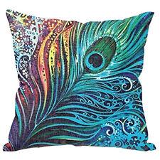 Peacock Sofa Bed Home Decor Pillow Case Cushion Cover LW