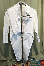 Cute White Boy's Tuxedo w Tails Costume w Cummerbund  & Bow Tie Dance Theater