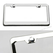 For Ford Part2 Chrome Mirror Polished Stainless Steel License Plate Holder Frame