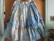 Chicwish Satin New York Pleated Full Lined Midi Skirt Vintage Unique Silky sz L
