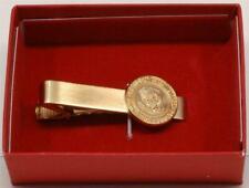 2020 President Donald Trump White House Boxed Gift Gold Tie Clasp POTUS Seal