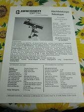RAR,Prospekt,Foto,Beschreibung,BRESSER Optik, Reflektor-Teleskop Polaris,um 1985