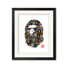 A Bathing Ape Baby Milo x Ultraman BAPE Logo Poster Print 0689