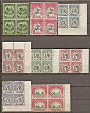 PAKISTAN BAHAWALPUR COLLECTION IN BLOCK OF 4 MNH SG 18/46a + O1/31b (9 scans).