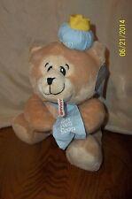 """Amen Choice Balloons Inc Get Well Soon Bear Brown Blue Plush 9"""""""