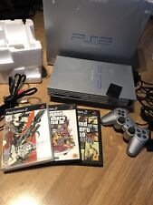 Sony PlayStation 2 Satin Silver Console PS2 boxed