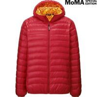 UNIQLO SPRZ NY MoMa KEITH HARING Red/Yellow ULTRALIGHT DOWN Puffer JACKET red xs
