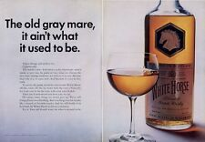 1969 White Horse Scotch Whisky Vintage Bottle  PRINT AD