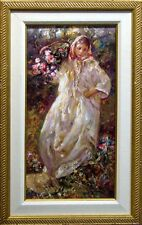 "Royo ""Fall"" from the Four Seasons Suite Signed & Numbered Art Board flower L@@K!"