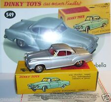 DINKY TOYS ATLAS COUPE BORGWARD ISABELLA GRIS CLAIR METAL 1/43 REF 549 IN BOX c