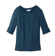 Tolles Shirt in weiter Form und Ärmeln mit Turn-up-Funktion Gr.36/38