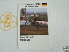 23 MOTO-CROSS 3B GERMANY ERNST SCHMID MAICO 250 KWARTET KAART, QUARTETT CARD,