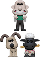 Wallace Gromit Shaun Set of 3 Funko Pop Vinyls New in Boxes