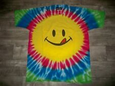 Vintage Joe Boxer Tie Dye Smiley Face T Shirt Mens All Over Print Tee Size XL