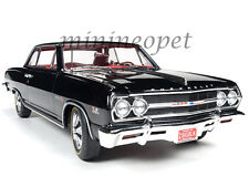 AUTOWORLD AMM1061 1965 CHEVROLET CHEVELLE 50th ANNIVERSARY 1/18 DIECAST BLACK
