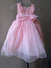 Isobella & Chloe Pink Baby Girl's Size 12 Months Tulle Tiered BOUTIQUE DRESS-NEW