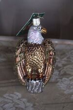 Old World Christmas Bald Eagle Glass Blown Ornament New with Tag