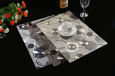 Waterproof! Up to 4 x Dining Table Mat Pad Placemat PVC Insulation Tableware