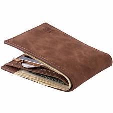 Mini Men's Leather Business Wallet Card Holder Man Purse Coin Bag Zipper