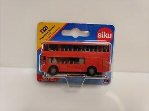 Siku 1321 Doppelstock-Reisebus Coach Bus De Tourisme À Deux Pants 1/64 Red