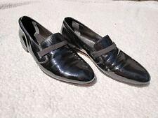Bally Fashion II Women's Full Strap Leather Slip On Dress Loafer Black Size 12
