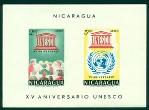 Nicaragua Scott #C503a MNH S/S UNESCO 15th ANN $$