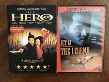 Jet Li: Hero DVD W/Slipcover + Jet Li The Legend DVD OOP USA Dimension Version