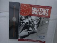 Eaglemoss Military Watches-AMERICANO AIRMAN anni 1940 WW2 Orologio Issue 82 USATO