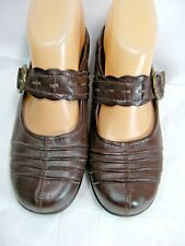 Bare Traps Womens Mules Shoes Size 7 M ALIZA Brown Mary Janes Buckle #B