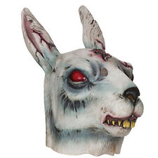 ADULT HALLOWEEN PARTY ZOMBIE RABBIT RUBBER MASK FANCY DRESS ACCESSORY