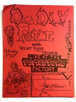 Dallas TX 1980's  Band Flyer DEADLY FORCE  VELVET RAGE TRIMER Tombstone Factory