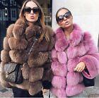HBJ01 100% Real genuine blue (Vulpes lagopus) fox fur coat