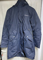 DIDRIKSONS LADIES UK 14 eu 40 NAVY PARKA INSULATED COAT HOODED RRP£220 *